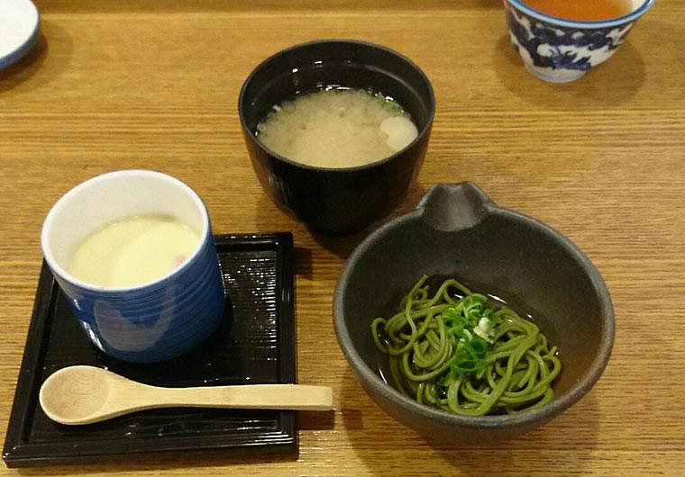 エビス水産 松花堂弁当 茶碗蒸し そば 味噌汁