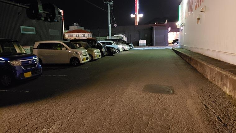 ずんどう屋 岡山伊島店 駐車場