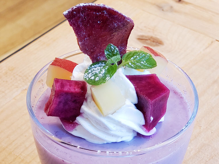 うのまち珈琲 番田の紫芋プリン
