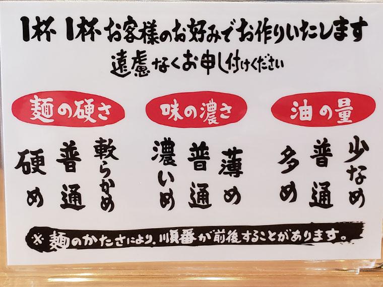 町田商店 岡山平井店 メニュー