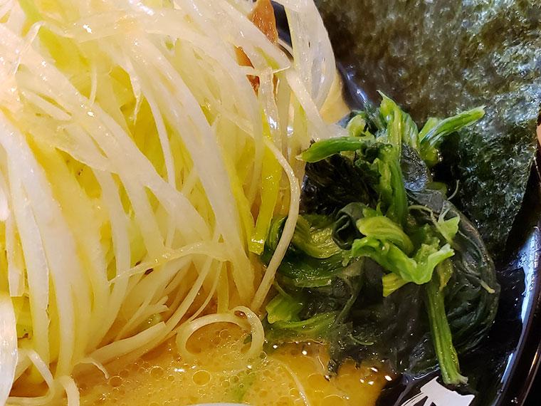 町田商店 岡山平井店 ラーメン ほうれん草