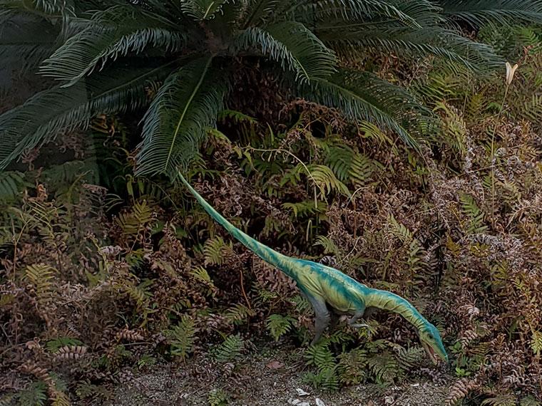 カブトガニ博物館 中庭 恐竜