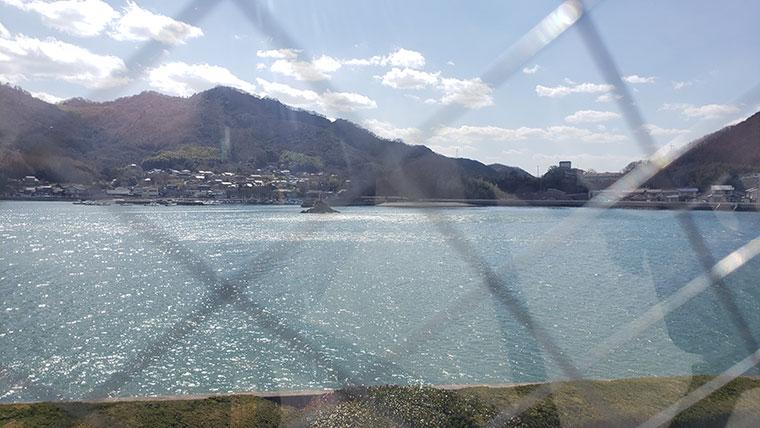 カブトガニ博物館から見た笠岡湾