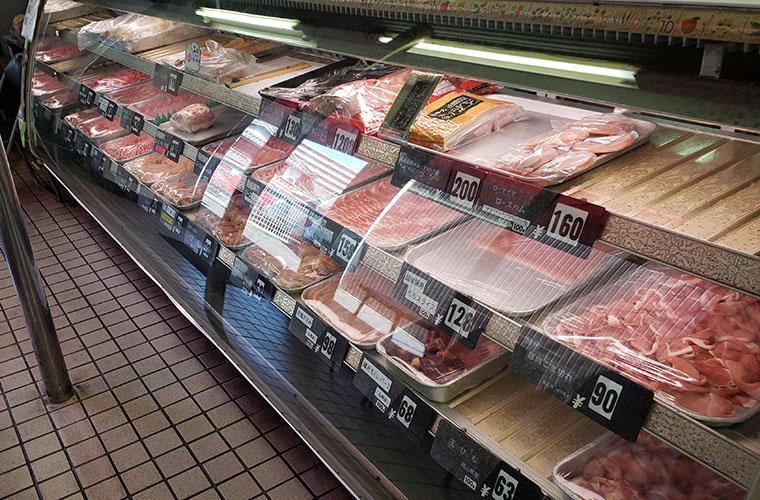 肉のいろは 店内 精肉