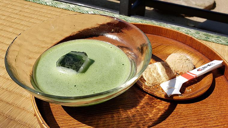岡山後楽園 さざなみ茶屋 きびだんご付き抹茶セット