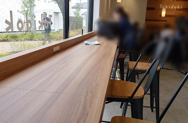 CAFE Tokidoki KOEIDO 店内 カウンター