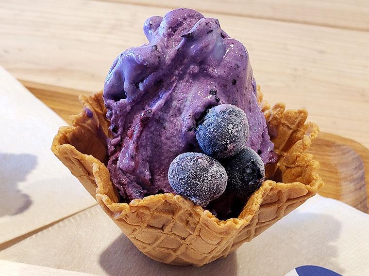 畑でとれるアイスのお店AOBA (アオバ) ブルーベリー