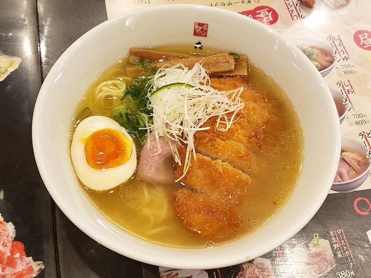 麺屋たくみ 駅前店 本日のきまぐれラーメン(カツラーメン塩)