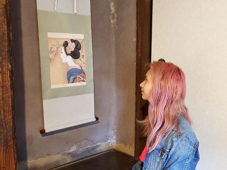 夢二生家記念館 館内 作品