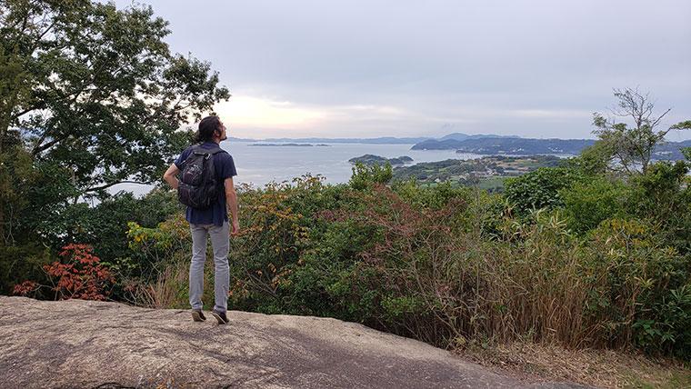 前島 残石群からの景色