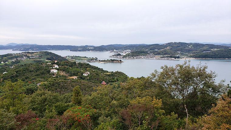 前島展望台からの景色