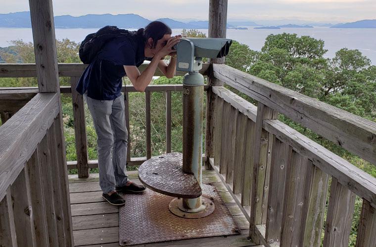 前島展望台 望遠鏡