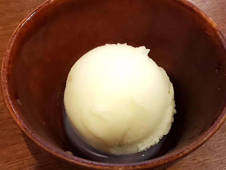 焼肉おふく レモンシャーベット