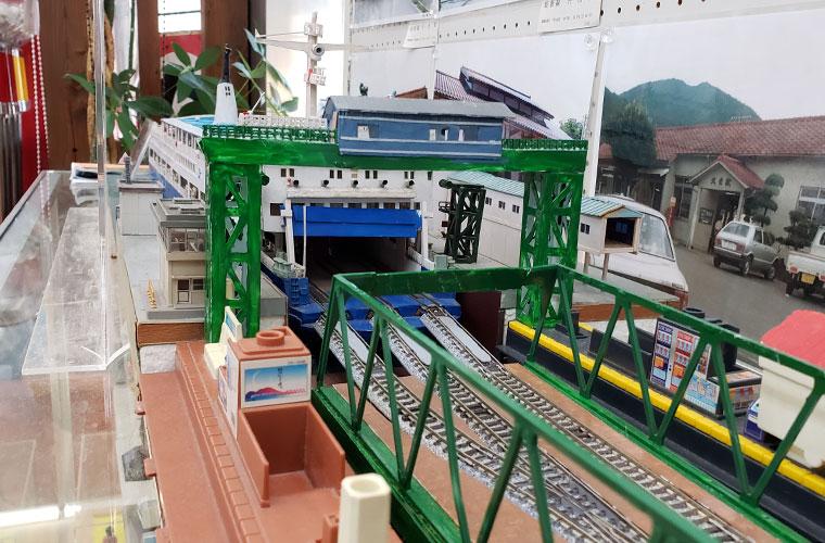 湯郷温泉てつどう模型館&レトロおもちゃ館 連絡線の模型
