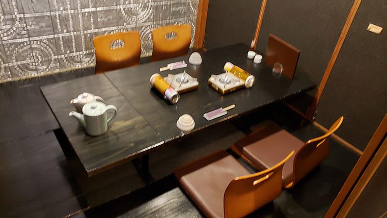 しゃぶしゃぶ すき焼き ひとり鍋 megu 店内 個室