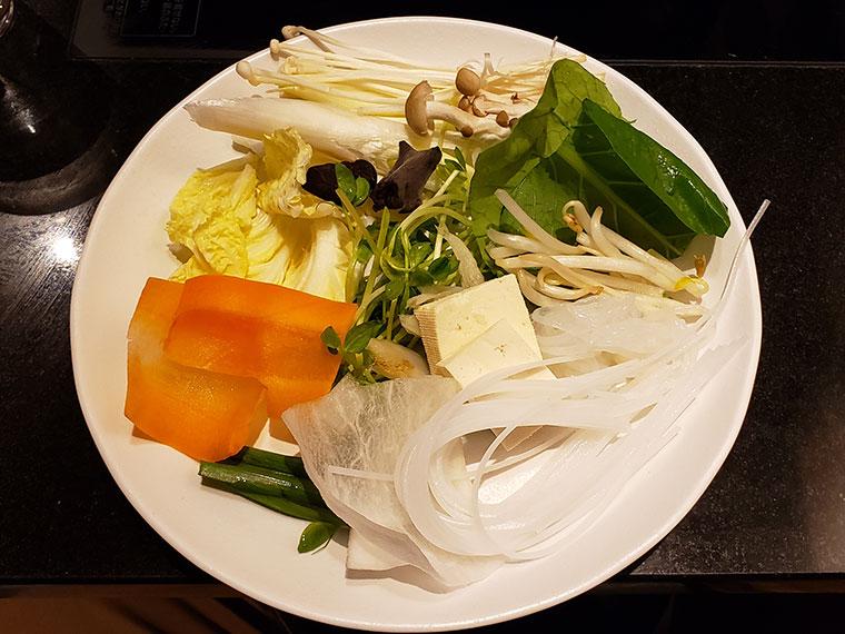 しゃぶしゃぶ美山 野菜