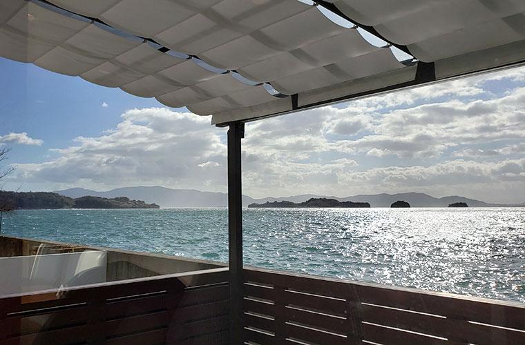 ロッサ カフェ&レストラン 海の景色