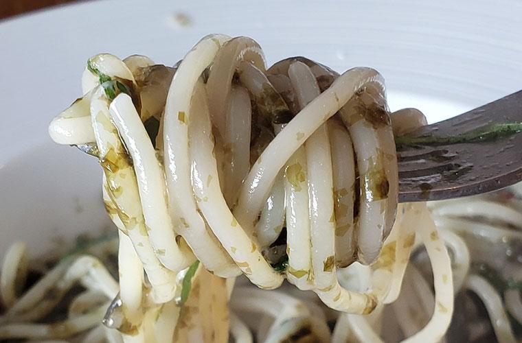 ロッサ カフェ&レストラン 磯香る牛窓産海苔と大葉のペペロンチーノ