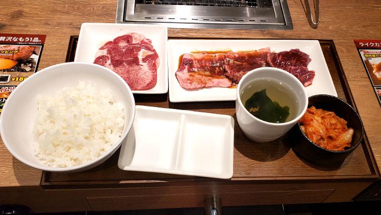 焼肉ライク 岡山店 牛タン&匠カルビ&ハラミセット(150g)
