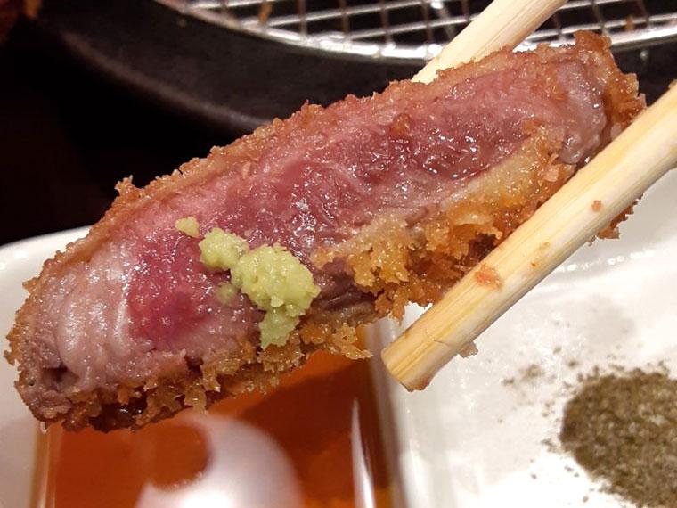 牛カツ 京都勝牛 牛ロースカツ わさび醤油