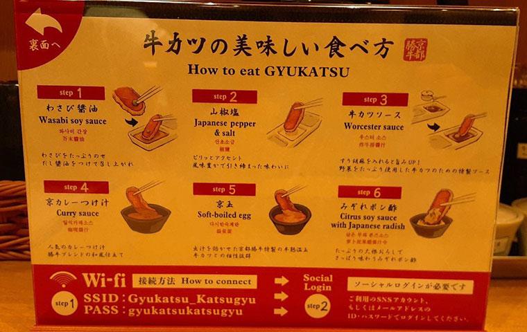 牛カツ 京都勝牛 美味しい食べ方